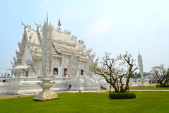 Thai white temple Royalty Free Stock Image