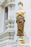 thai white woman angel statue Royalty Free Stock Image