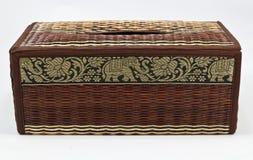 Thai wicker tissue box. Thai style wicker tissue box Royalty Free Stock Photos