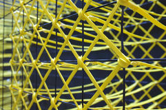Thai wicker woven  wall  made from plastic  rope Stock Photography
