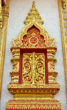 Thai Wiindow Sculpture. Royalty Free Stock Images