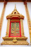 Thai window in monastery Royalty Free Stock Images
