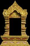 Thai window temple Stock Photo