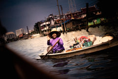 Thai Woman Boat Vendor Royalty Free Stock Photography