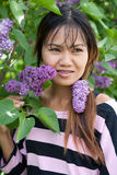 Thai woman with braces Stock Photo