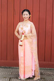 Thai Woman/Bride in Thai Wedding Suit Stock Image