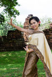 Thai woman classical dancer Royalty Free Stock Photos
