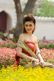 Thai woman dressing traditional. Stock Photography