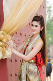 Thai woman dressing traditional. Stock Images