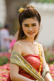 Thai woman dressing traditional. Stock Image