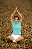 Thai woman exercise on ground in the park . Stock Images