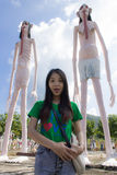 Thai Woman With ghost and hell Royalty Free Stock Photos