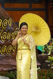 Thai woman in a national costume, Thailand Royalty Free Stock Images
