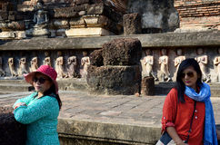 Thai woman and old women travel and portrait Stock Photography