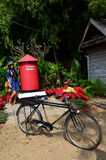 Thai woman portrait with postbox at Jim Thompson Farm Stock Images