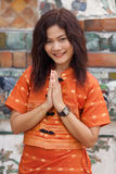 Thai woman praying Royalty Free Stock Images