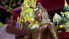 Thai Woman Praying Wat Phra That Doi Suthep Chiang Mai