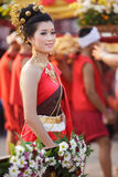 Thai woman in traditional clothes Royalty Free Stock Image