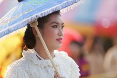 Thai woman in traditional clothes Stock Images