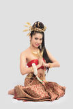 Thai Woman In Traditional Costume Of Thailand. Thai Woman In Traditional Costume Stock Image