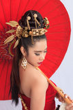 Thai Woman In Traditional Costume Of Thailand. Thai Woman In Traditional Costume Stock Photography