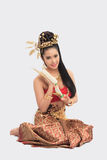 Thai Woman In Traditional Costume Of Thailand. Thai Woman In Traditional Costume Royalty Free Stock Image