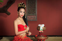 Thai Woman In Traditional Costume. Of Thailand Royalty Free Stock Photography