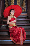 Thai Woman In Traditional Costume. Of Thailand Stock Photos