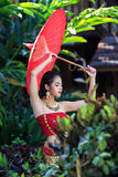 Thai Woman In Traditional Costume. Of Thailand Royalty Free Stock Photos