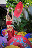 Thai Woman In Traditional Costume Stock Photography