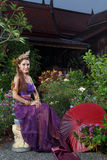 Thai Woman In Traditional Costume Royalty Free Stock Photography
