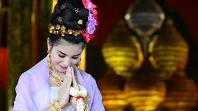 Thai Woman In Traditional Costume Of Thailand Royalty Free Stock Images