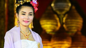 Thai Woman In Traditional Costume Of Thailand Royalty Free Stock Photos