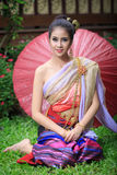 Thai Woman In Traditional Costume Royalty Free Stock Images