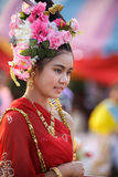 Thai woman in traditional dress Royalty Free Stock Photo