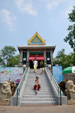 Thai woman travel and portrait at Phra Kal Shrine Royalty Free Stock Image