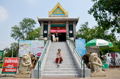 Thai woman travel and portrait at Phra Kal Shrine Stock Photos