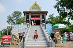 Thai woman travel and portrait at Phra Kal Shrine Stock Photos