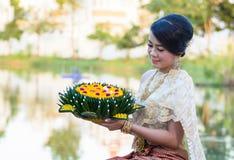 Thai woman royalty free stock photo