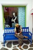 Thai woman writting postcard Stock Images