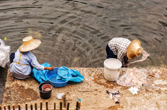 Thai Women Cleaning Stock Photos