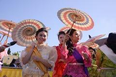 Thai women in costume Stock Photography