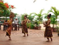 Thai women dance in show. Asian women dance for tourists Stock Images