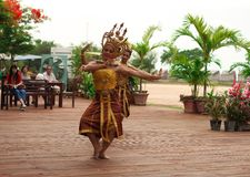 Thai women dance in show. Asian women dance for tourists Royalty Free Stock Images
