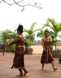 Thai women dance in show. Asian women dance for tourists Royalty Free Stock Photos
