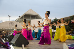 Thai women dancer dancing thai style for show people in traditio Stock Photography