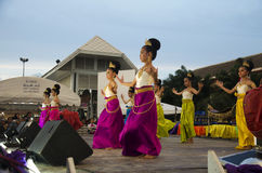 Thai women dancer dancing thai style for show people in traditio Stock Images