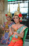 Thai women dressed as goddess Royalty Free Stock Photos