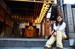 Thai women at Hozenji Temple Royalty Free Stock Photography