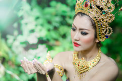 Thai women in national costume Royalty Free Stock Photo